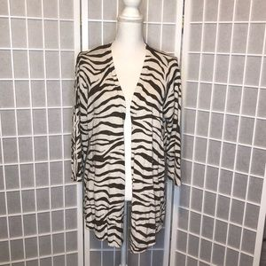Additions by Chico zebra striped cardigan size 3